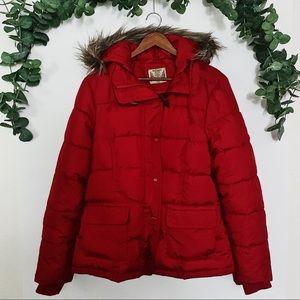 Ruff Hewn Red Puffer Down Jacket